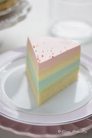 Rainbow cheesecake!  looks perfect for a baby shower!  : )
