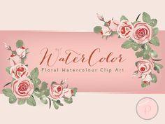 Pink Watercolor Flower Light Pink Floral Clip art by MagicalStudio