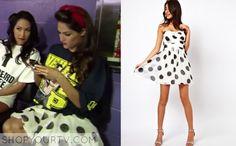 Nikki-Bella-Polka-dot-dress It is the TFNC pleated chiffon bandeau skater dress. total divas