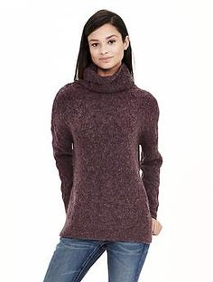 Cable-Knit High/Low Turtleneck Sweater Tunic   Banana Republic  So cozy!!