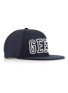 NAVY 'GEEK' SNAPBACK CAP