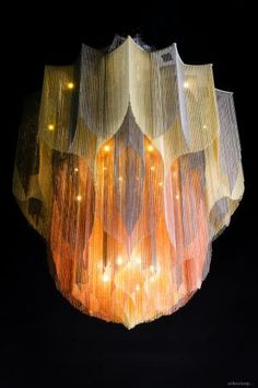 Kinetic light sculpture, mandala chandelier, movement in lighting. Art Deco Chandelier, Pendant Chandelier, Beautiful Ceiling Designs, Chinese Bar, Lotus Mandala, Unique Drawings, I Love Lamp, Light And Space, Home Decor Styles