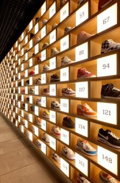 Sneakerology! An endless wall of sneakers