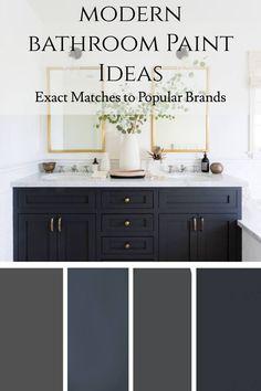 Modern bathroom Paint Ideas - decor and design ideas