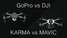 La sfida Gopro vs DJI è da poco iniziata, questo per via dei droni rilasciati dalle due aziende, Karma e Mavic, in contrasto tra loro. Qual è da acquistare?