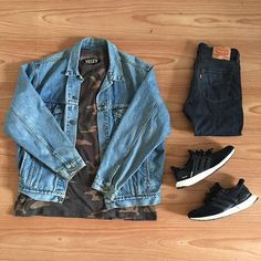 """""""I got shooters dressed in camo, oh my""""  Levis Jacket / Demin 