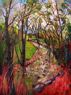 Mossy creek in Paso Robles, an original oil painting by Erin Hanson.