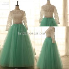 Wholesale Prom Dress - Buy Real Sample Ball Gown Long Sleeves Floor-length Lace Tulle Prom Gown Dresses 2013, $121.4 | DHgate