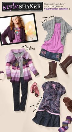 Cute purple pieces from The Gap. #kids #clothes  #girls