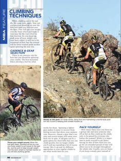 Mountain Bike Action Magazine. Tips for climbing techniques