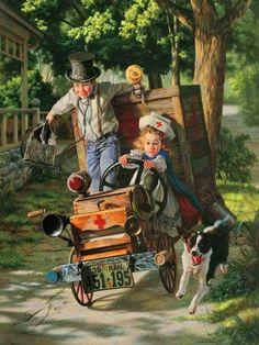 """Help On The Way"". Artist Bob Byerley"