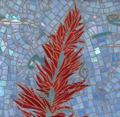 Mosaics - love the different textures. Mosaic Wall Art, Mural Wall Art, Tile Art, Mosaic Glass, Mosaic Tiles, Stained Glass, Glass Art, Mosaic Flowers, Mosaic Designs
