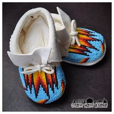 beaded baby moccasins. They are just so tiny!