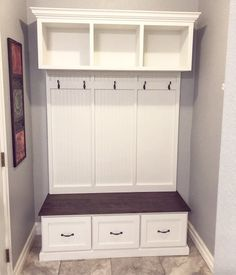 Entryway bench with storage 3 piece without sides/entryway Entryway Storage Cabinet, Entryway Bench Storage, Bench With Shoe Storage, Shoe Bench, Shoe Cabinet, Entry Way Lockers, New York, Cubbies, Retro