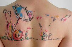 Community Post: 28 tatouages aquarelle sublimes