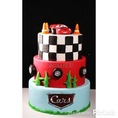The cars mcqueen cake