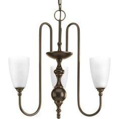Progress Lighting, Revive Collection 3-Light Antique Bronze Chandelier, P4234-20 at The Home Depot - Mobile