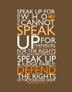 """Christian, Spiritual, Religious, Office Motivational Quote Art - Proverbs 31 - """"Speak up"""" on Etsy, $15.00"""