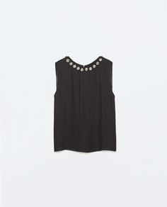 ZARA - NEW THIS WEEK - LOW-CUT TOP WITH BACK ZIP