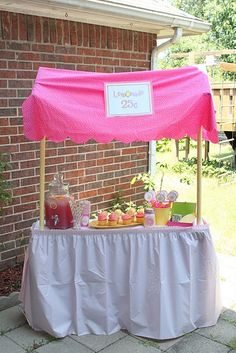 Lemonade stand-Must remember for summer birthday party