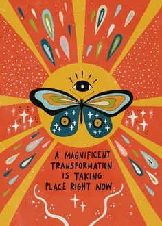 A magnificent transformation Sticker by Asja Boros - White - # Skin Care wallpaper backgrounds Photo Wall Collage, Picture Wall, Collage Art, Poster Wall, Poster Prints, Arte Indie, Happy Words, Hippie Art, Psychedelic Art