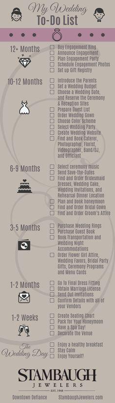 A handy checklist for newly engaged brides. Enjoy!