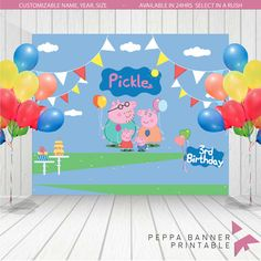 Personalized Peppa Pig Family Birthday Banner by ArielaSuriel