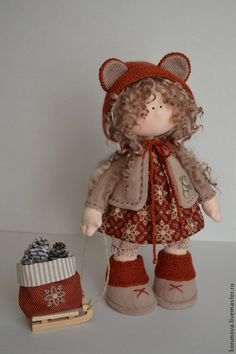 Peoples handmade.  Fair Masters - handmade.  Buy Michel.  Handmade.  Brown, interior doll, a gift for any occasion