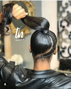 single-goddess-braid-in-ponytail # goddess Braids with weave 64 Goddess Braid Ideas for Your Next Style Hair Ponytail Styles, Black Ponytail Hairstyles, Sleek Ponytail, Box Braids Hairstyles, Curly Hair Styles, Natural Hair Styles, Hairstyles Men, High Ponytail With Weave, Hair Styles With Weave