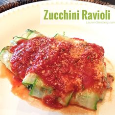 HEALTHY, LOW-CARB ZUCCHINI RAVIOLI RECIPE | Lauren Gleisberg | Happiness, Health, & Fitness