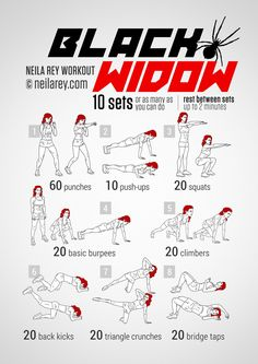 Black Widow Workout - How to be a super hero