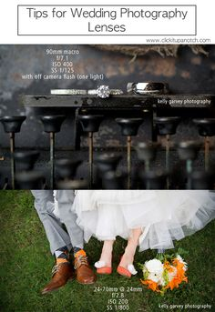 Tips for which lens to use in wedding photography via Click it Up a Notch