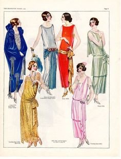 1923 long formal gowns