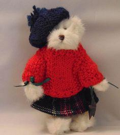 Boyds Bears Plush Retired #90503 Baby Mae Wishkabibble girl bear knit sweater #Christmas