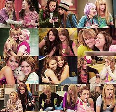 Miley/Hannah & Lola/Lilly <3 best friends through high and then after high school became closer just like me and my best friend will be