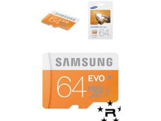 Samsung Micro SD Cards SDXC 64GB With Adapter And USB Card Reader
