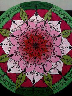 Mandala Flor MDF 80 Ccm Arte de Rosangela Bavaresco                                                                                                                                                                                 Más