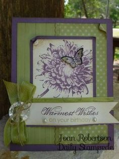 Stampin' Up! Blooming with Kindness stamp set. by maggie