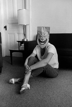 The brown paper bag party. Mask Series with Saul Steinberg Photographed by Inge Morath, 1959-1962