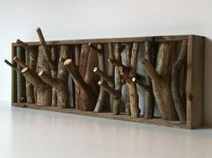 natural coat hooks. I want theese!