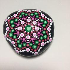Hand Painted Mandala Stone, Mandala Meditation Stone, Dot Art Stone, Healing Stone, #476 by MafaStones on Etsy
