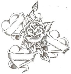 coloring pictures of hearts and roses for teens - Enjoy Coloring Heart Coloring Pages, Cool Coloring Pages, Adult Coloring Pages, Coloring Sheets, Coloring Book, Tattoo Oma, Tattoo Kind, Cool Drawings, Tattoo Drawings