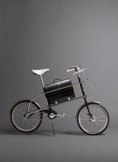 Wallpaper* limited edition bikes: 'City' bike, by Level, with saddle and briefcase by Brooks