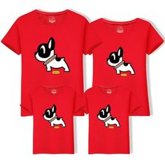 2019 Cotton Father Son t Shirt Matching Family Outfits Mom Dad Big Size Tee Cartoon Dog Cotton Clothing Matching Family Tops Cartoon Dog, Matching Family Outfits, Mother And Father, Family Dogs, Dog Shirt, Mom And Dad, Sons, Big, Casual