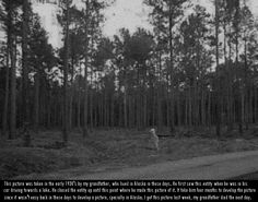 Alien Captured on Film in Alaska? — This picture was taken in the early 1930's by the sender's grandfather, who lived in Alaska. The entitiy was first seen when the grandfather was on his way to a lake. He chased the entity until he got close enough to take this one picture. It was some 4 months before the photograph was developed, being in in a remote, sparsely populated area. The sender's grandfather died the day after giving him the photo.