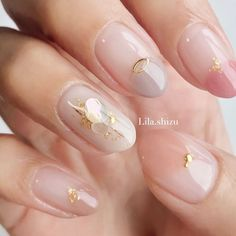 Gel Nail Art, Nail Manicure, Gel Nails, Minimalist Nails, Gorgeous Nails, Pretty Nails, Romantic Nails, Korean Nails, Claw Nails