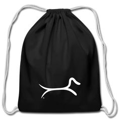 Maria Uusivirta Design | Minimalist Dachshund - Cotton Drawstring Bag.  #dachshund #dachshundart #dachshundlover #dachshundmania #dachshundrules #dachshundshirt #doxie #sausagedog #dachshundlove Short Vacation, Dachshund Art, Commute To Work, Cotton Drawstring Bags, Shirts, Tees, Timeless Design, Simple Designs, Fabric Weights