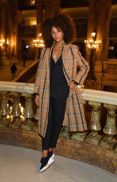 Stefi Celma attends the Stella McCartney show as part of the Paris Fashion Week Womenswear Spring/Summer 2019 on October 1, 2018 in Paris, France.