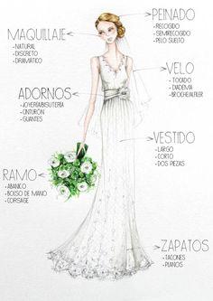 El look de novia #boda #novia #elbauldemuselina