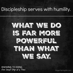 Discipleship serves with humility